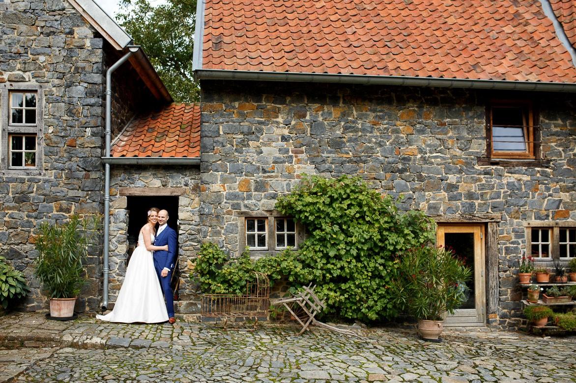 Bruidspaar bij Hoeve Vernelsberg