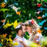 Origami kraanvogels bruiloft