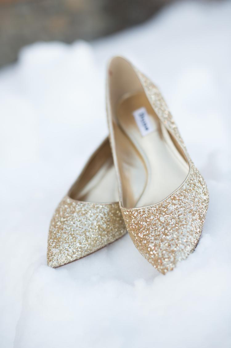 Gouden bruidsschoenen