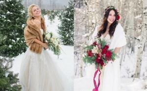 Bruid met bontjas