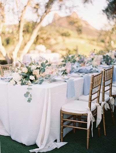 Lente bruiloft pastelkleuren