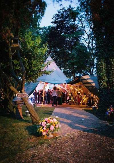Tipitent bruiloft feest