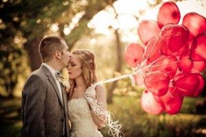 Hartjes ballonnen bruiloft