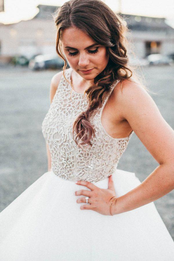 Bruid met lange vlecht