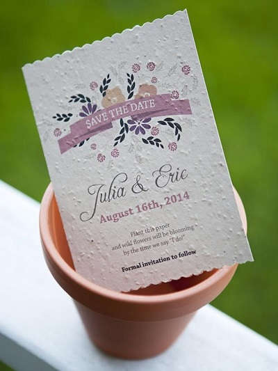 Duurzame bruiloft uitnodigingen