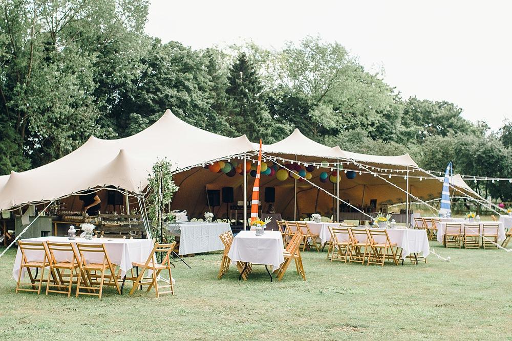 Festival bruiloft tenten