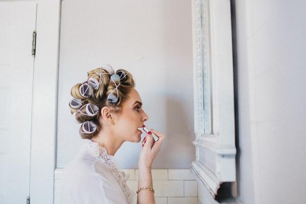 Bruid getting ready