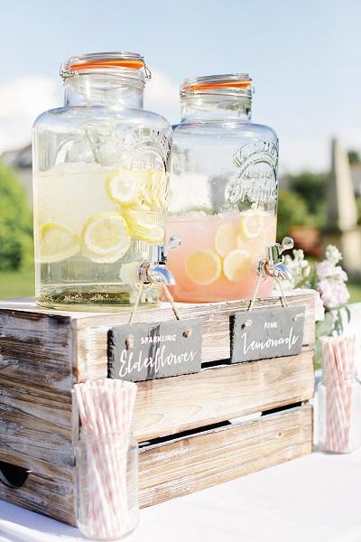 Limonade dispenser bruiloft