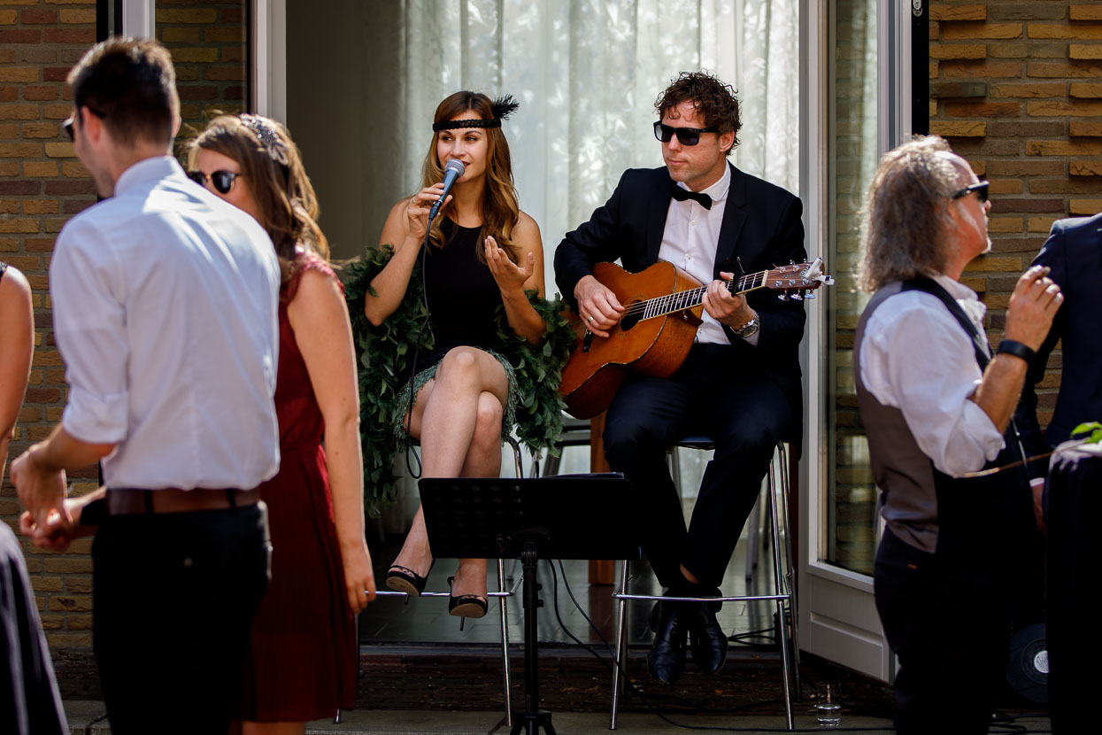 Live muziek op bruiloft