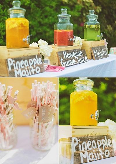 Tropische bruiloft drankjes