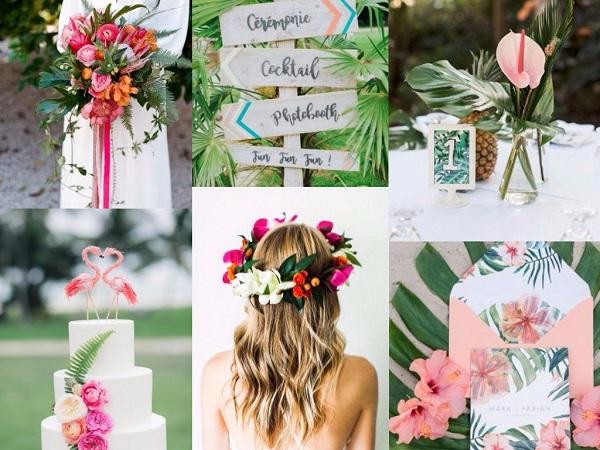Tropical bruiloft inspiratie