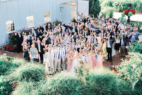 Gasten op bruiloft