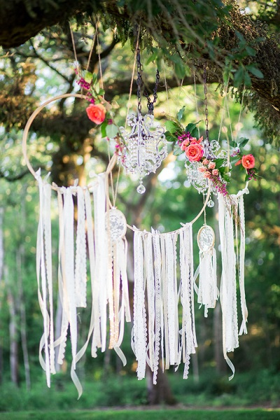 Bohemian dromenvangers bruiloft