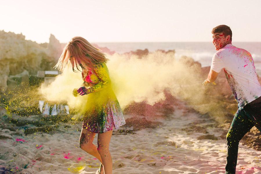 Holi powder fotoshoot verloving