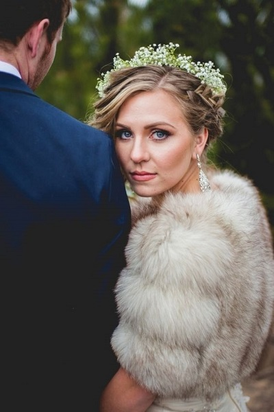Bruid met bont