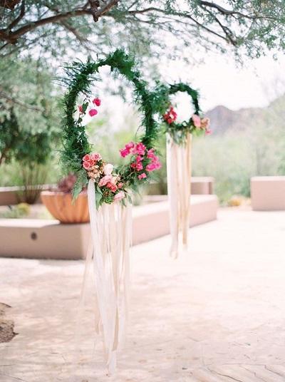 Dromenvangers gemaakt van bloemen