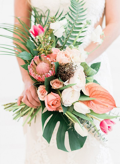 Tropisch bruidsboeket