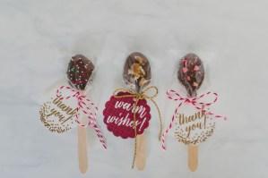 Chocoladelepels als trouwbedankje