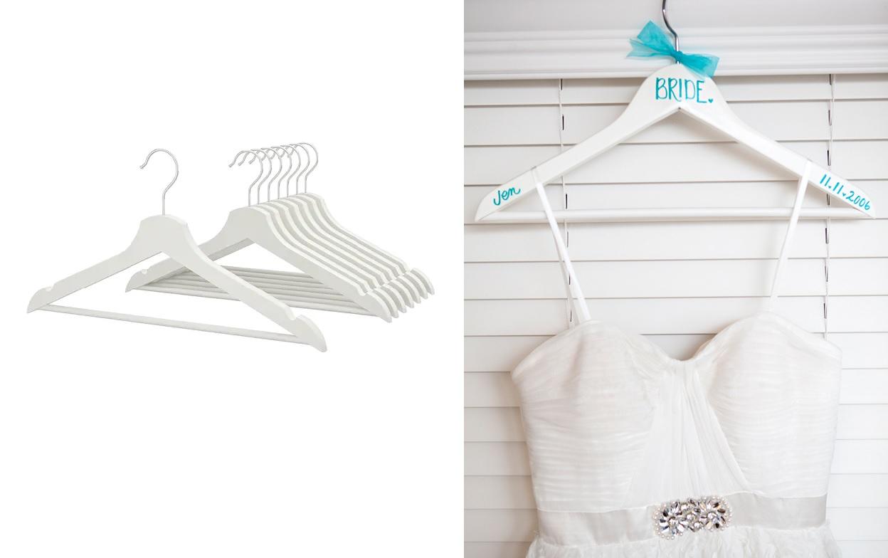 Kleerhanger trouwjurk van IKEA