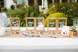 Fotolijst als bruiloft decoratie