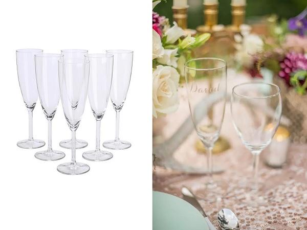 IKEA champagneglazen gegrafeerd