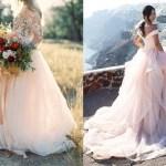 Licht roze trouwjurken