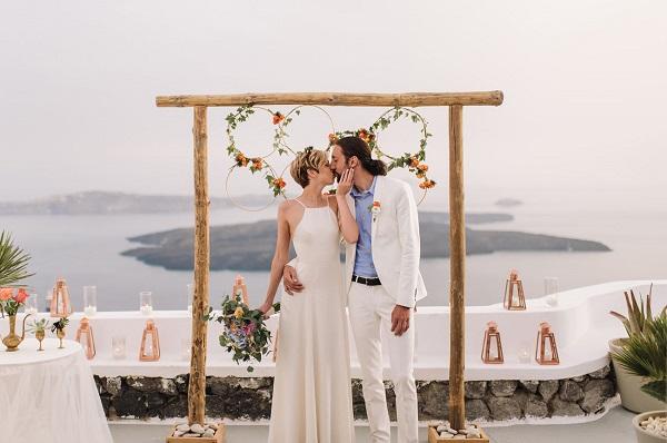 Trouwen in het buitenland Santorini