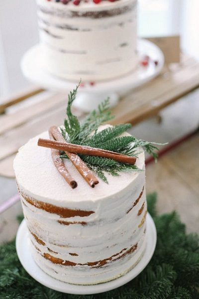 Winterbruiloft inspiratie bruidstaart