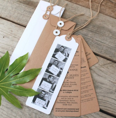 Photo booth trouwkaart