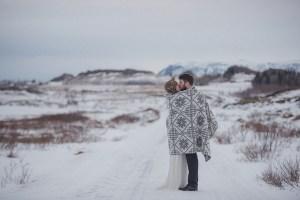 Winterbruiloft in de sneeuw