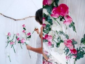Hangende bloemen aan stok