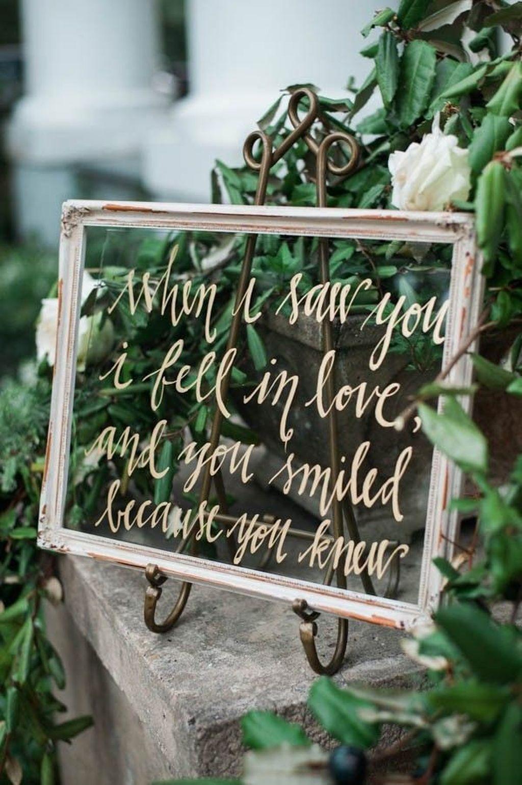 Huwelijk quote op glas