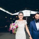 Bril met bruid en birdcage veil