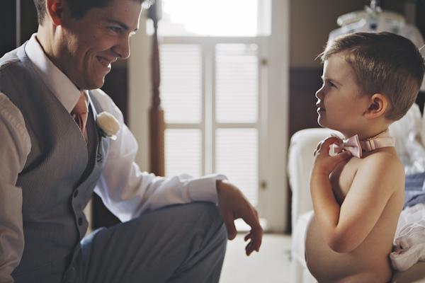 Bruidegom en zijn zoontje