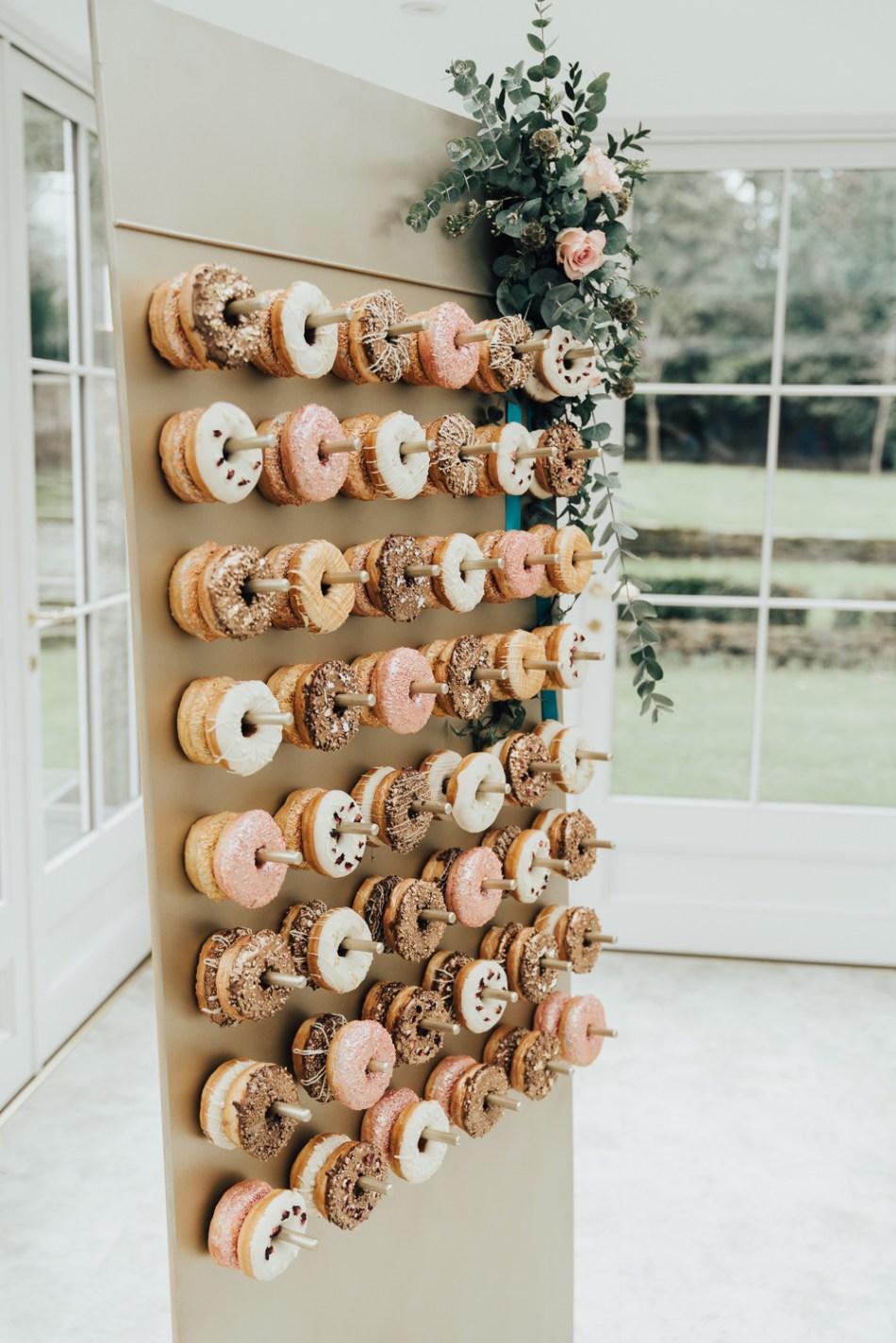 Bruiloft ideeën met donuts