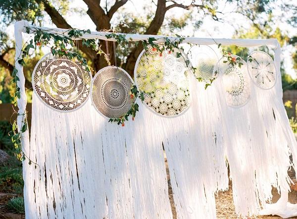 Dromenvangers backdrop als bruiloft ideeën