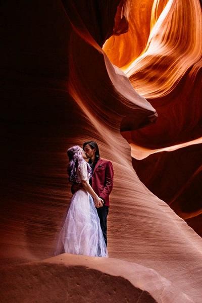 Verlovingsshoot Antelope Canyon