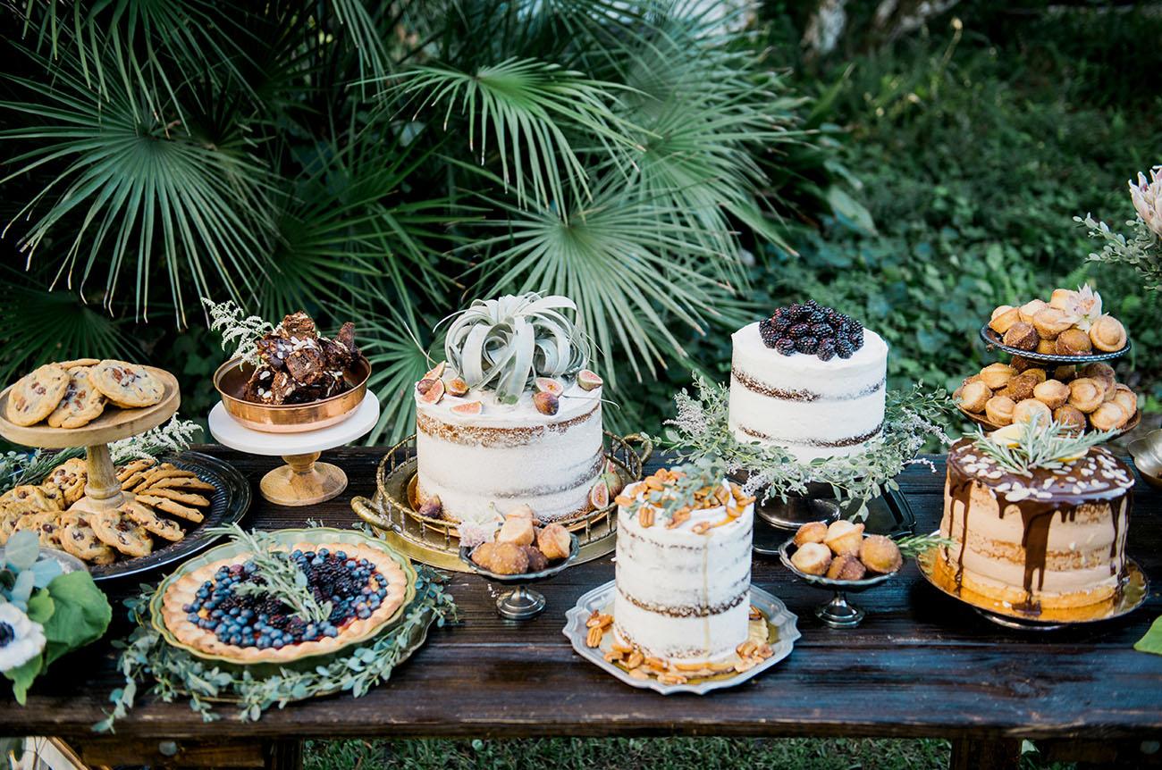 Bohemian bruidstaarten tafel