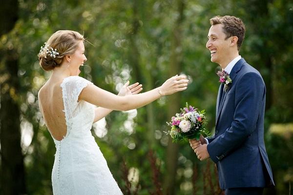 Bruid en bruidegom first look