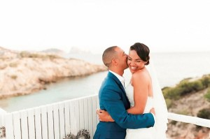 Bruidspaar op de trouwfoto´s