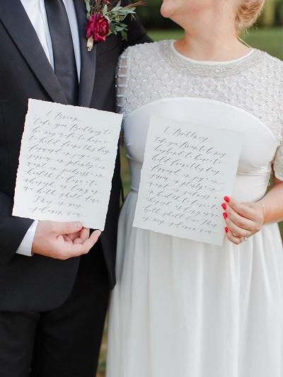 Persoonlijke geloften bruid en bruidegom