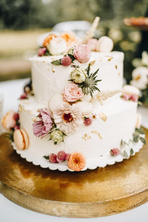 Foto van de bruidstaart