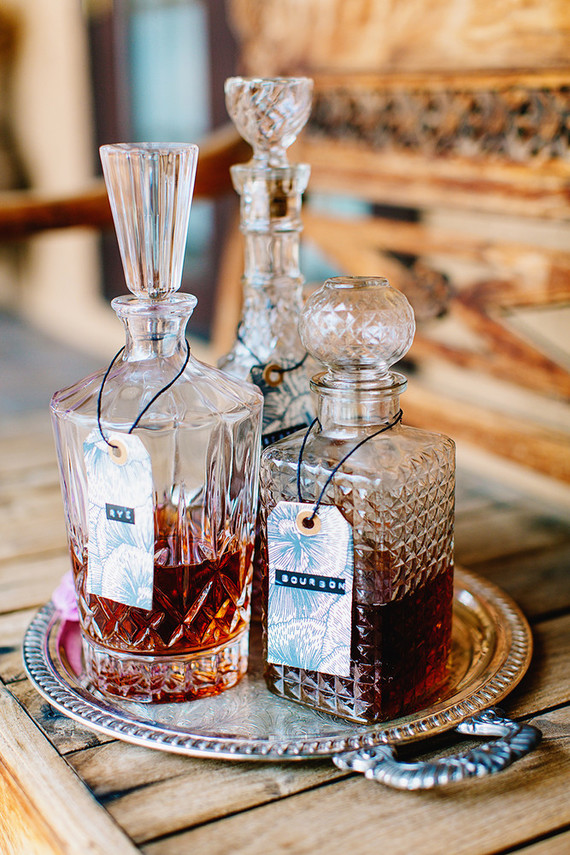 Kristallen whisky flessen