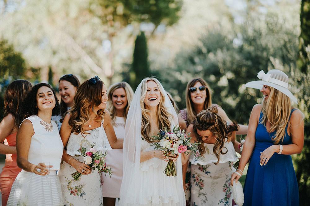 Bruid met gasten