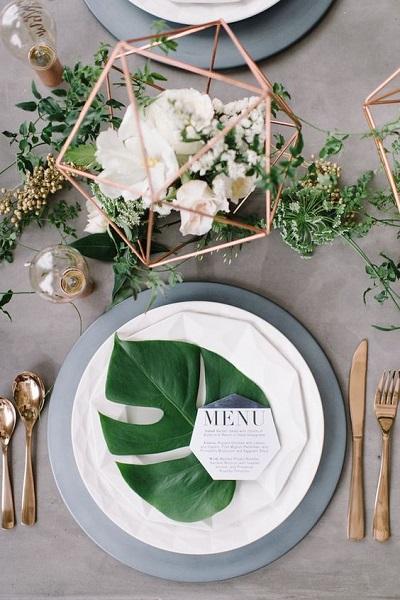 Bruiloft decoratie diner