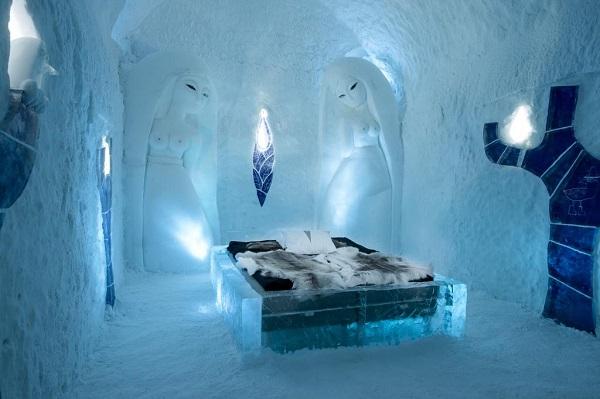 Huwelijksreis in een ijshotel in Zweden