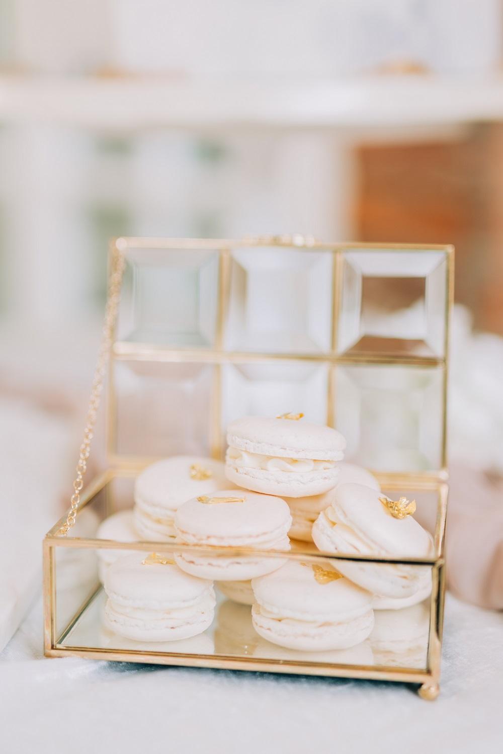 Macarons op een bruiloft