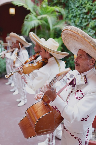 Mariachi band op Mexicaanse bruiloft
