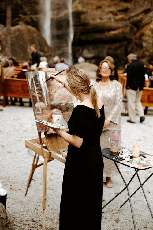 Live paint als verrassing voor het bruidspaar