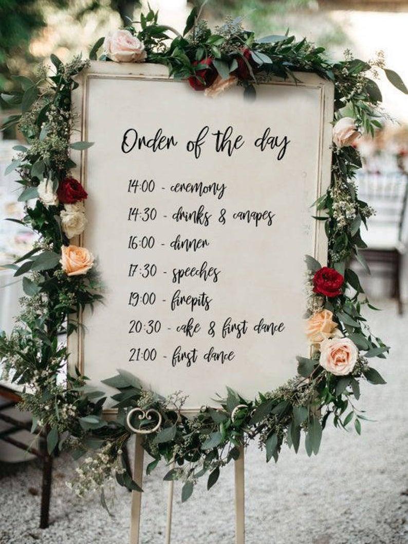 Tijdsplanning trouwdag